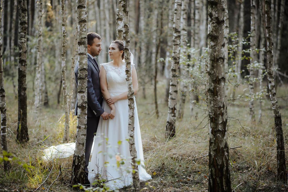 ślub zdjęcia las Warszawa